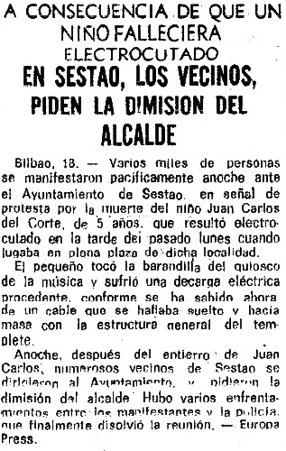 Piden dimisión Alcalde. 10-1973