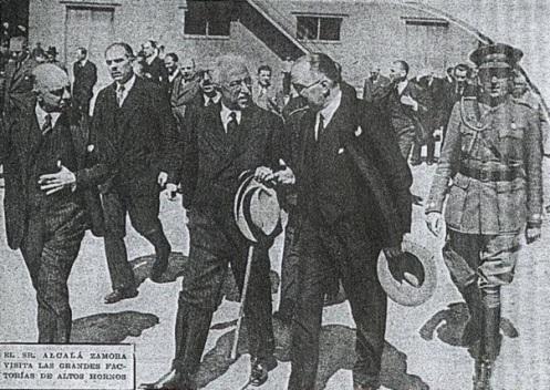 Visita AHV Presidente Niceto Alcalá Zamora. 14-5-1933