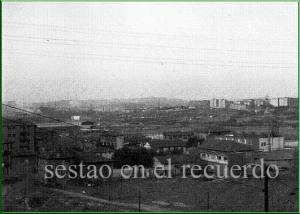 Sestao desde Ugarte. Años 50.