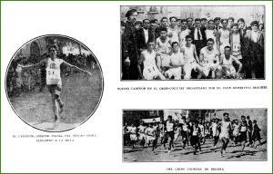 Amador Palma, ganador del Cross Deportivo Begoñés. 10-1921.