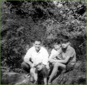Excursión a la fuente de la cazuela. Años 70.