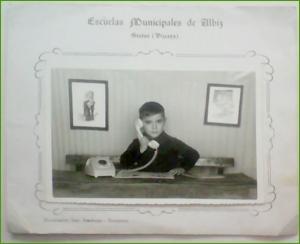 Foto escolar del colegio de Albiz. Años 70.