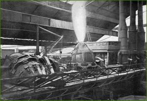AHV. Plataforma de los convertidores. 1914.