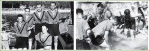 Batel de Kaiku. Jesús Picaza, Paulino Sánchez, Vicente Beaskoetxea, Felix Brazaola y Jesús Ferández. Bilbao. 1946.