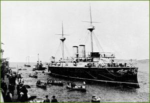 Crucero Infanta María Teresa en pruebas. 1890.