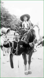 Desfile de Gordos y Delgados. Años 40.