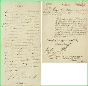 Licencia para pasar a Cuba del vecino de Sestao, Pedro José Villate De la Hera. 1832.