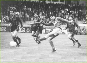 Ourense.-1-Sestao,-0. Primer partido de promoción. Junio de 1994.