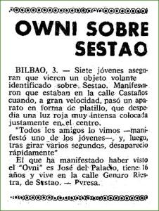 OVNI. Septiembre de 1968.