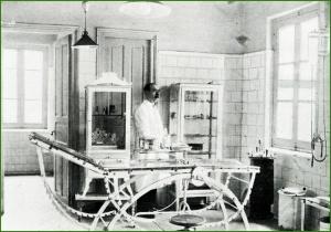 SESTAO. Durante la Dictadura de Primo de Rivera, se construyó el nuevo Cuarto de Socorro. En la foto una vista del interior del mismo a finales de la década de 1920. Joaquín Cárcamo Martínez