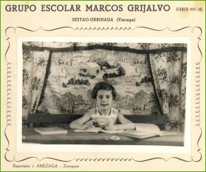 Foto escolar. Años 50.