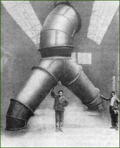 Babcock & Wilcox. Pieza de desviación para tubería forzada. 1930.