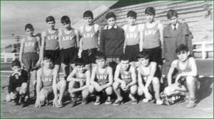 Equipo de atletismo de La Salle. Ciudad Deportiva San Vicente de Barakaldo. 1964. Kaki Yoy