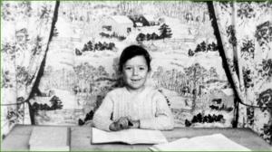 Foto escolar del colegio General Mola.  Maricarmen Cristóbal