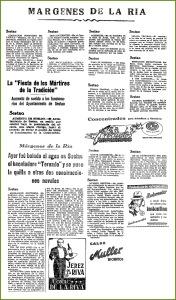 Noticias. Marzo de 1942.