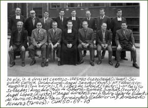 Profesores de la escuela de aprendices AHV. Curso 196869.