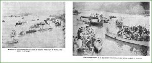 Regatas en la ría. Septiembre de 1931.
