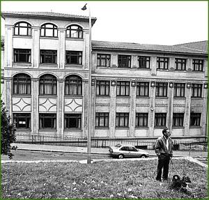 1995. Vistas exteriores del Colegio Vista Alegre de Sestao.