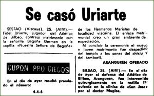 Boda de Fidel Uriarte. Junio de 1969.