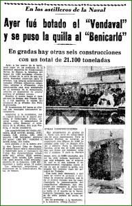 Botadura . Mayo de 1942.