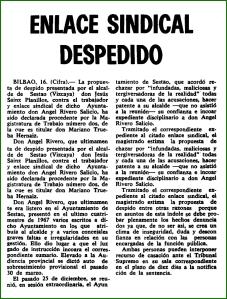 Despido. Mayo de 1968.