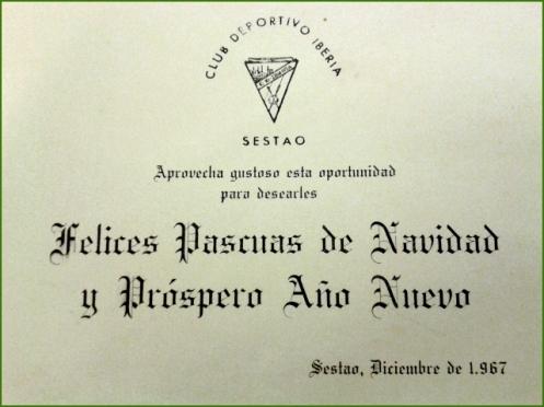 Felicitación del Iberia. 1967. Agueda Castillo Ledesma.