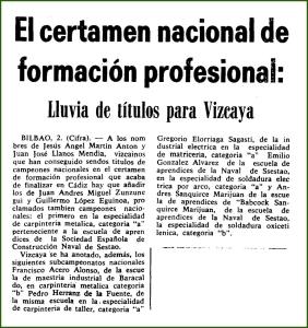 Premios. Enero de 1968.