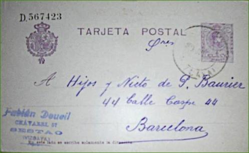 Tarjeta postal 1921.