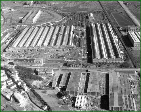 Vista aérea de Babcock & Wilcox. 1959.  (1)