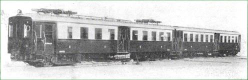 Tren unidad electrico(automotor o remolque) para la Compañia del Norte. 1930.