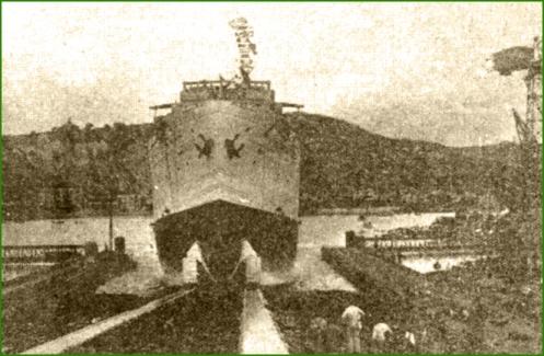 Botadura del Domine. Sestao (27 de julio de 1934).