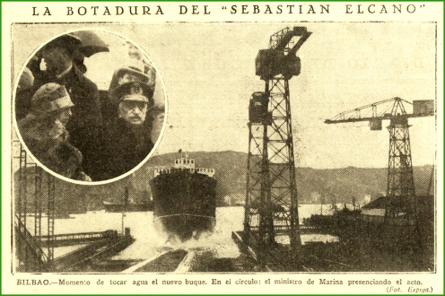 Botadura. Noviembre de 1926.