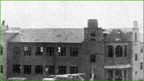 Construyendo el grupo escolar de Primo de Rivera. Octubre de 1927.