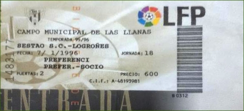 Entrada. 1996.