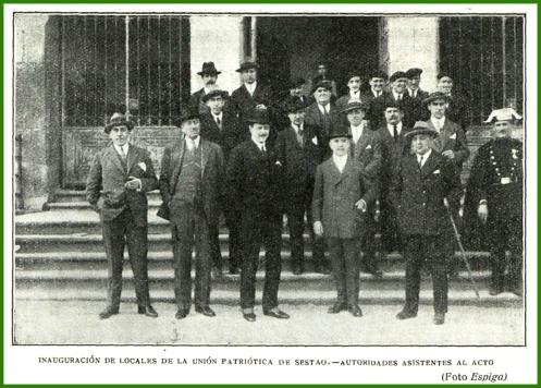 Inauguración de los locales de la Unión Patriotica. Marzo de 1927.