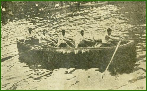 Batel de Kaiku, gana regata en Portugalete. Enero de 1937.