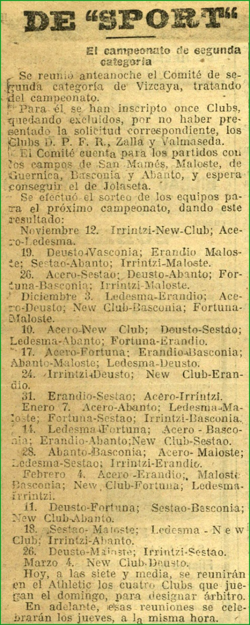 primera-tempodada-del-rver-noviembre-de-1916-100urtezurekin