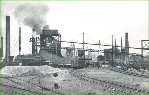 Vista de l'empresa Altos Hornos de Vizcaya a Baracaldo.